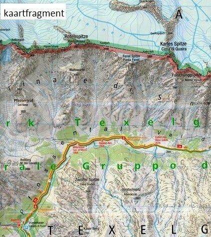 KP-043 Texelgruppe/Meraner Höhenweg   Kompass wandelkaart 9783990443941  Kompass Wandelkaarten   Wandelkaarten Zuidtirol, Dolomieten, Friuli, Venetië, Emilia-Romagna