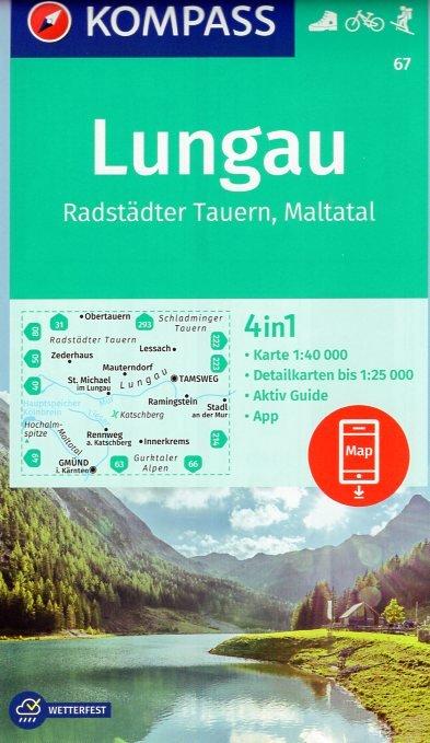 KP-67 Lungau - Radstädter Tauern | Kompass wandelkaart 9783990444092  Kompass Wandelkaarten Kompass Oostenrijk  Wandelkaarten Salzburg, Karinthië, Tauern, Stiermarken