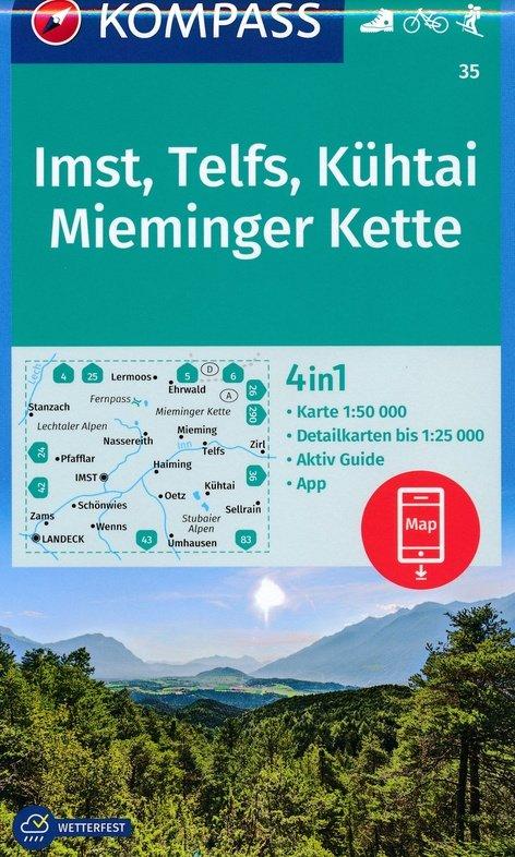 KP-35 Imst-Telfs-Kühtai | Kompass wandelkaart 9783990444139  Kompass   Wandelkaarten Tirol & Vorarlberg