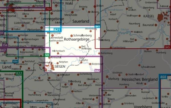 KP-842  Sauerland 2 | Kompass wandelkaart Rothaargebirge 1:50.000 9783990444146  Kompass Wandelkaarten   Wandelkaarten Sauerland, Münsterland, Teutoburger Wald