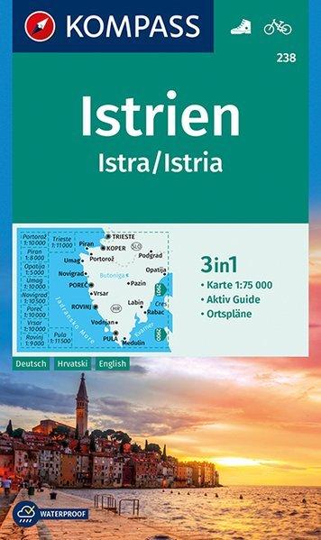 KP-238 Istrie   Kompass wandelkaart 9783990444542  Kompass Wandelkaarten   Wandelkaarten Kroatië