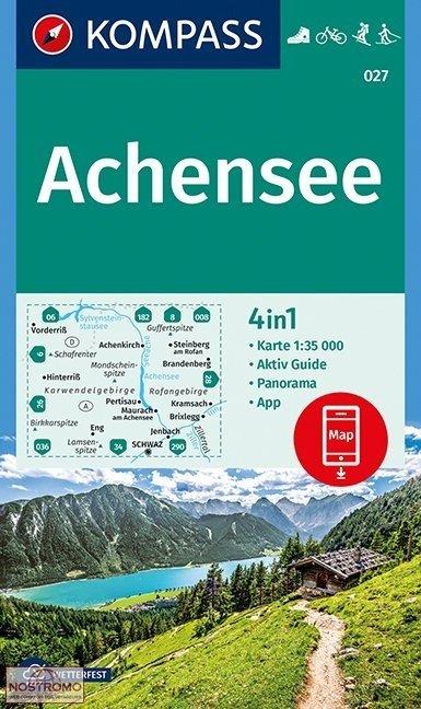 KP-027 Achensee | Kompass wandelkaart 9783990444597  Kompass Wandelkaarten   Wandelkaarten Tirol & Vorarlberg
