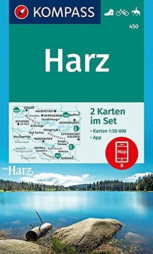 KP-450 Harz 1:50.000 9783990444627  Kompass Wandelkaarten   Wandelkaarten Harz