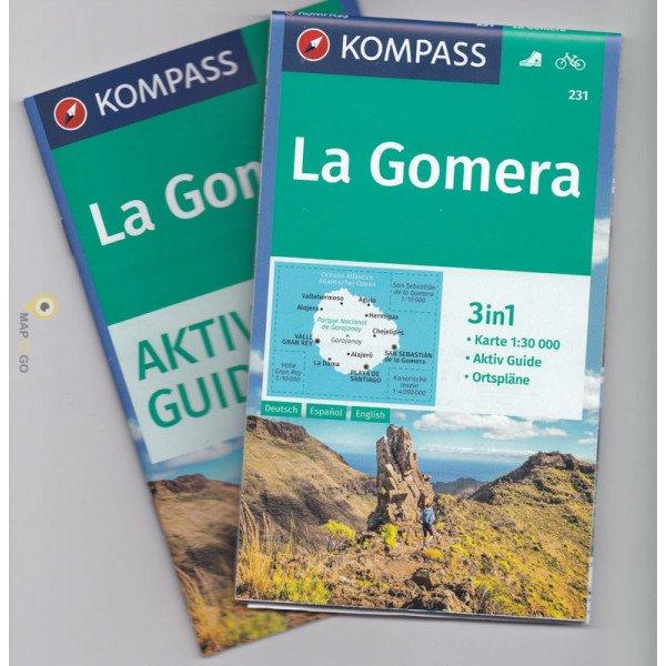 KP-231 La Gomera 1:30.000 | Kompass wandelkaart 9783990444696  Kompass Wandelkaarten   Landkaarten en wegenkaarten, Wandelkaarten