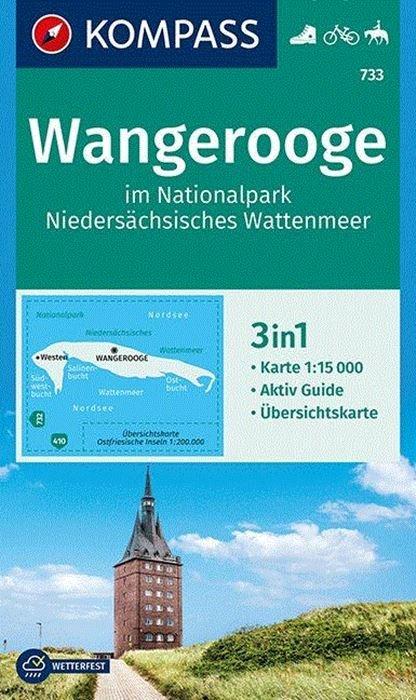 KP-733 Wangerooge | Kompass wandelkaart 9783990444702  Kompass Wandelkaarten Kompass Duitsland  Wandelkaarten Ostfriesland