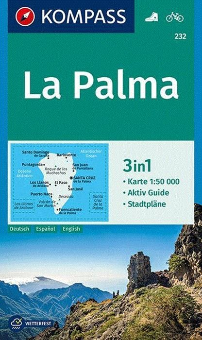 KP-232 La Palma | Kompass wandelkaart 9783990444832  Kompass Wandelkaarten   Landkaarten en wegenkaarten, Wandelkaarten La Palma