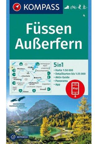 KP-4 Füssen-Ausserfern | Kompass wandelkaart 9783990444924  Kompass Wandelkaarten   Wandelkaarten Tirol & Vorarlberg