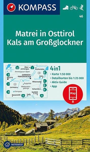 KP-46 Matrei (Osttirol)-Venedigergruppe | Kompass wandelkaart 9783990444931  Kompass Wandelkaarten   Wandelkaarten Salzburg, Karinthë, Tauern, Stiermarken