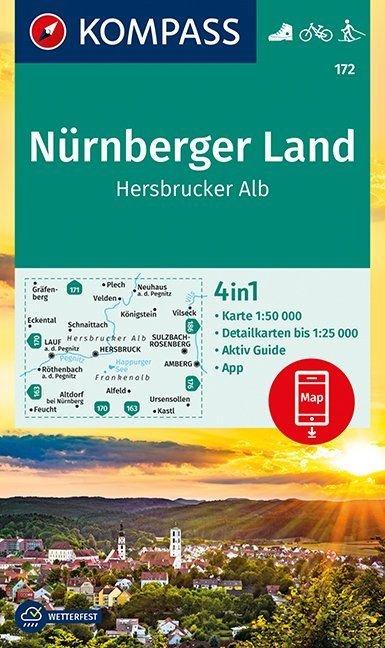 KP-172 Nürnberger Land | Hersbrucker Alb 9783990445426  Kompass Wandelkaarten   Wandelkaarten Beieren zonder de Alpen