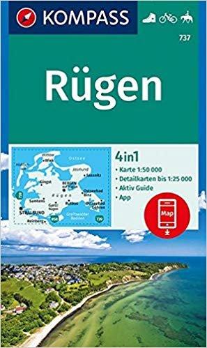 KP-737 Insel Rügen | Kompass wandelkaart 9783990445518  Kompass Wandelkaarten   Wandelkaarten Mecklenburg-Vorpommern, Rügen