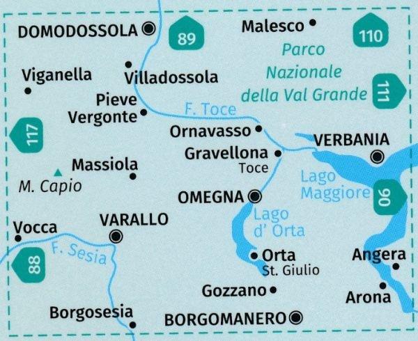 KP-97 Varallo, Lago d'Orta   Kompass wandelkaart 9783990445525  Kompass Wandelkaarten Kompass Italië  Wandelkaarten Turijn, Piemonte