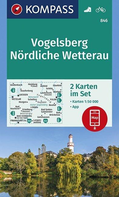 KP-846 Vogelsberg, Nördliche Wetterau 1:50.000 | Kompass 9783990445594  Kompass Wandelkaarten Kompass Duitsland  Wandelkaarten Noord- en Midden-Hessen, Kassel