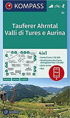 KP-82 Tauferer-Ahrntal-Valle di Tures-Aurina 1:50.000 | Kompass 9783990445617  Kompass Wandelkaarten   Wandelkaarten Zuidtirol, Dolomieten, Friuli, Venetië, Emilia-Romagna