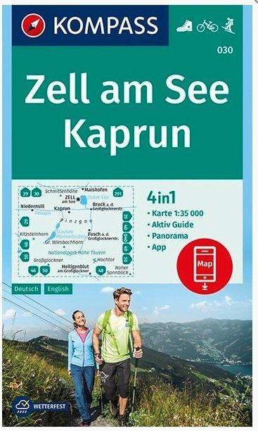 KP-030  Zell am See, Kaprun | Kompass wandelkaart 9783990445648  Kompass Wandelkaarten   Wandelkaarten Salzburg, Karinthë, Tauern, Stiermarken