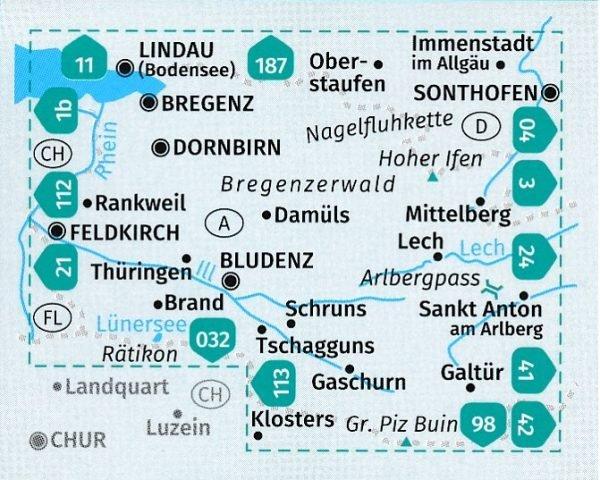 KP-2 Bregenzerwald-Westallgäu | Kompass wandelkaart 9783990445662  Kompass Wandelkaarten Kompass Oostenrijk  Wandelkaarten Tirol & Vorarlberg