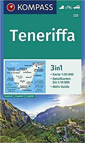 KP-233 Tenerife 1:50.000 | Kompass wandelkaart 9783990445686  Kompass Wandelkaarten   Landkaarten en wegenkaarten, Wandelkaarten