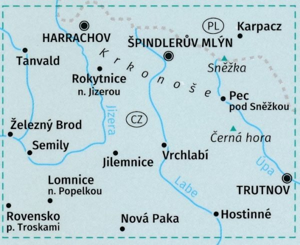 KP-2087  Krkonose Riesengebirge | Kompass wandelkaart 9783990446447  Kompass Wandelkaarten   Wandelkaarten Tsjechië