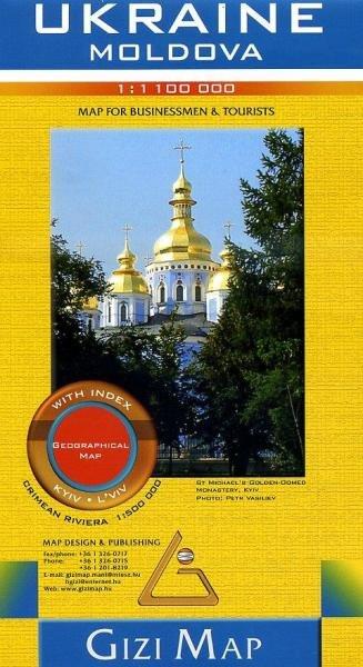 Oekraïne landkaart / wegenkaart 1:1.100.000 9786155010071  Gizi Map   Landkaarten en wegenkaarten Oekraïne