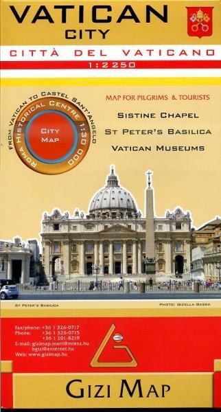Vatican City, Vaticaan stadsplattegrond 9786155010095  Gizi Map   Stadsplattegronden Rome, Abruzzen