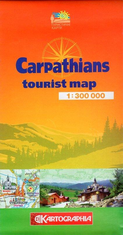 Carpathians 1:300.000 (Ukraine) 9786176700272  Kartographia   Landkaarten en wegenkaarten Oekraïne