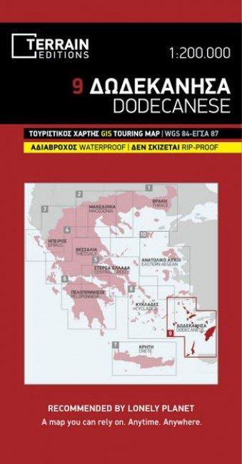 TM-1.9 Dodecanesos 1:200.000 9786185160067  Terrain Maps Dodecanese Islands  Landkaarten en wegenkaarten Egeïsche Eilanden