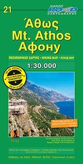 Mount Athos 1:30.000 9786185211165  Road Editions   Wandelkaarten Midden en Noord-Griekenland, Athene