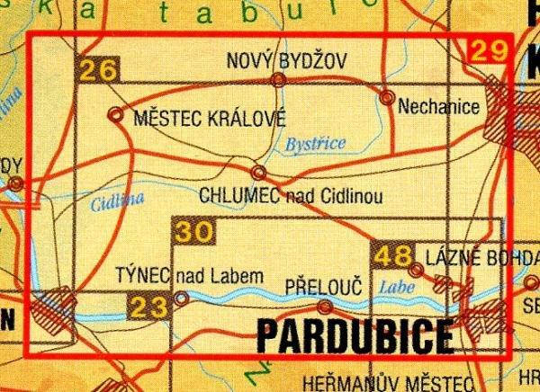CZ50 29  Strední Polabí, Hradec Králové, Pardubice | wandelkaart 9788072243594  SHOCart Wandelkaarten Tsjechië  Wandelkaarten Tsjechië
