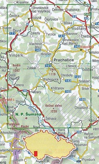 439 Posumi Prachaticko 1:40.000   wandelkaart 9788072247172  SHOCart Wandelkaarten Tsjechië  Wandelkaarten Tsjechië