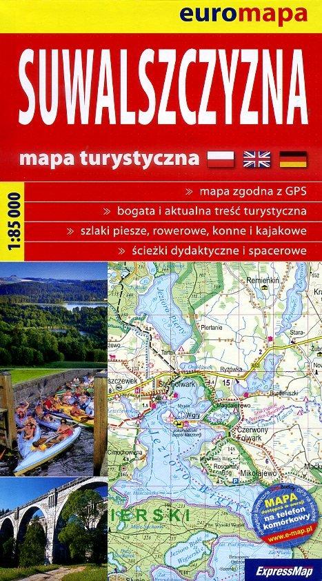 Suwalszczyzna | wandelkaart 1:85.000 (Suwalski) 9788360120415  ExpressMap   Wandelkaarten Polen