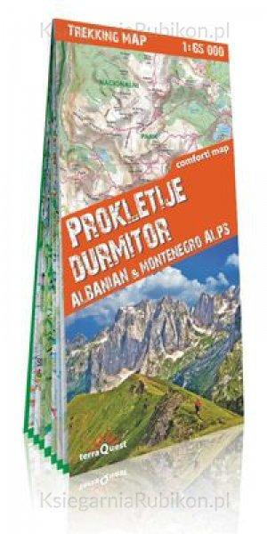 Prokletije / Durmitor | wandelkaart 1:65.000 9788361155430  TerraQuest   Wandelkaarten Servië, Bosnië-Hercegovina, Macedonië, Kosovo, Montenegro