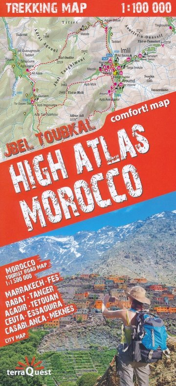 High Atlas 1:100.000 & Marokko 1:1.500.000 9788361155577  TerraQuest   Wandelkaarten Marokko