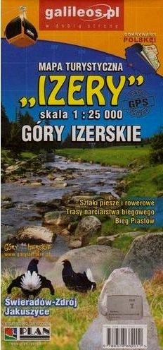 Izery 1:25.000 (Góry Izerskie, Isergebirge) | wandelkaart 1:25.000 9788378682011  Galileos   Wandelkaarten Polen