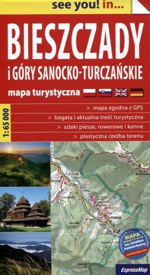 Bieszczady Mountains | wandelkaart 1:65.000 9788380460478  Terraquest / ExpressMap   Wandelkaarten Polen