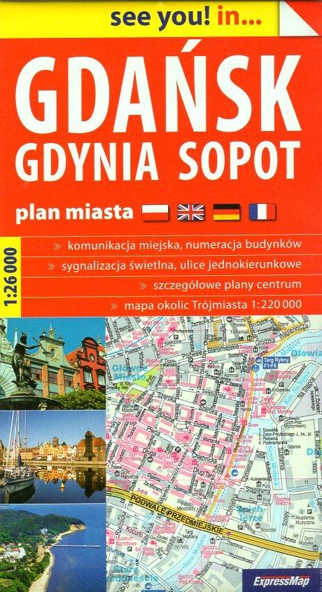 Gdansk  Town Plan 1:26.000 9788388112331  ExpressMap   Stadsplattegronden Polen