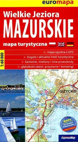 Wielkie Jeziora Mazurskie | wandelkaart 1:60.000 (Mazurische Meren) 9788388112898  ExpressMap   Wandelkaarten Polen