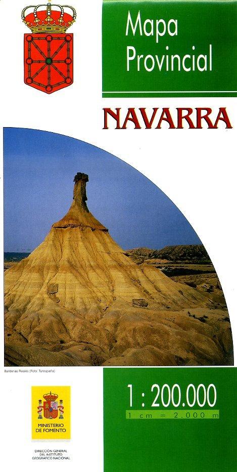Prov.: Navarra 1:200.000 9788441602601  CNIG Provinciekaarten Spanje  Landkaarten en wegenkaarten Noordwest-Spanje, Compostela, Picos de Europa