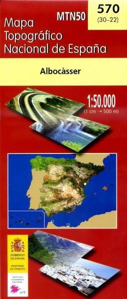 Hoja -570  Albocasser, Culla 9788441604025  CNIG Spanje 1:50.000  Wandelkaarten Costa Blanca