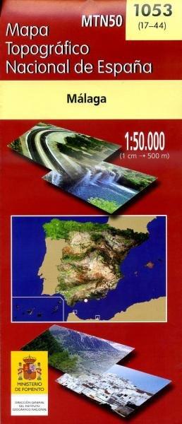 Hoja 1053 Malaga 9788441607873  CNIG Spanje 1:50.000  Wandelkaarten Malaga