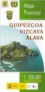 Prov.: Alava, Guipuzcoa, Vizcaya 1:200.000 9788441610125  CNIG Provinciekaarten Spanje  Landkaarten en wegenkaarten Baskenland