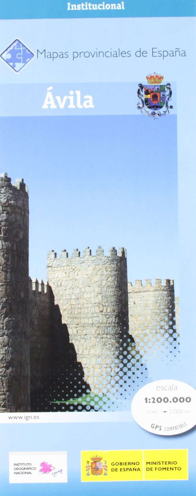 Prov.: Avila 1:200.000 9788441620759  CNIG Provinciekaarten Spanje  Landkaarten en wegenkaarten Castilië