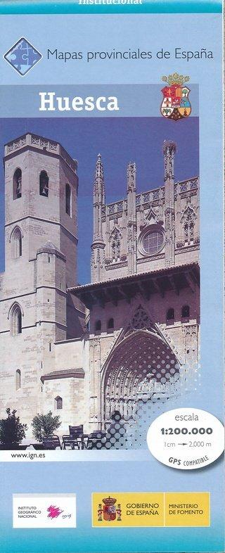 Prov.: Huesca 1:200.000 9788441631571  CNIG Provinciekaarten Spanje  Landkaarten en wegenkaarten Catalonië, Barcelona