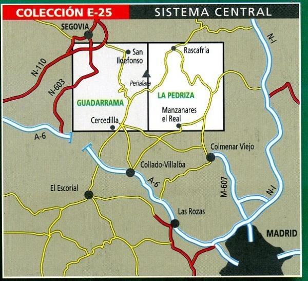 La Pedriza 1:25.000 9788480901604  Editorial Alpina Wandelkaarten Spanje  Wandelkaarten Castilië