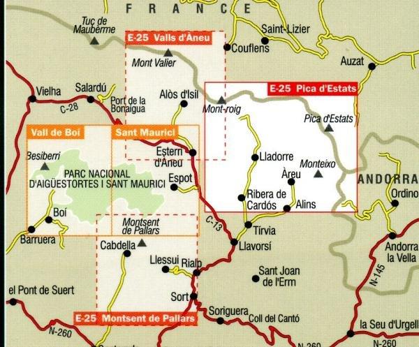 Pica d'Estats 1:25.000 9788480902304  Editorial Alpina Wandelkaarten Spaanse Pyreneeë  Wandelkaarten Spaanse Pyreneeën