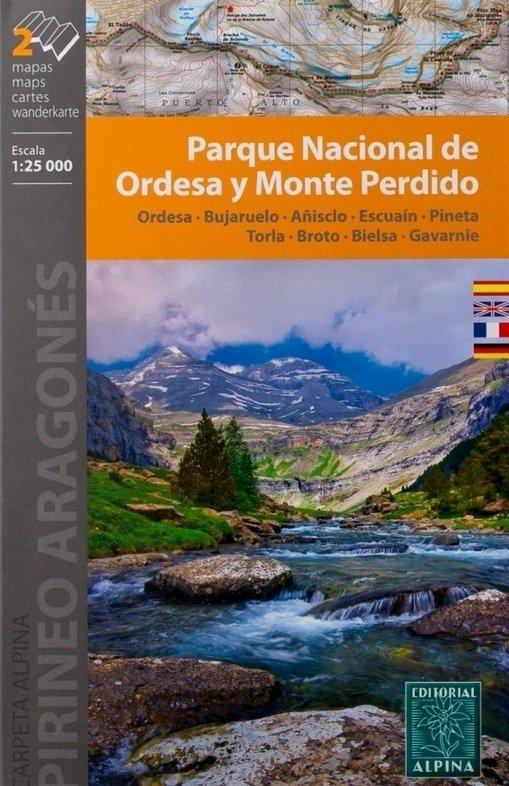 Ordesa y Monte Perdido 1:25.000 9788480904872  Editorial Alpina Wandelkaarten Spaanse Pyreneeë  Wandelkaarten Spaanse Pyreneeën