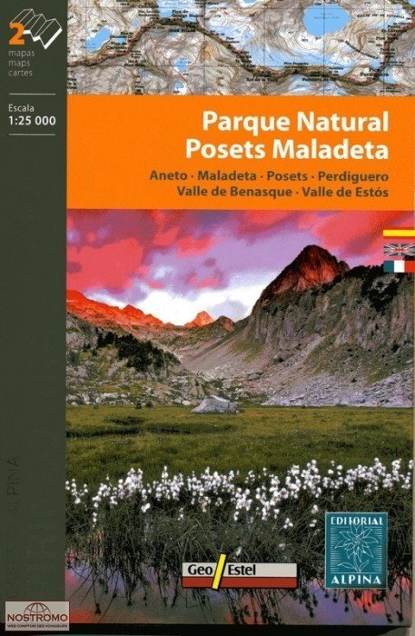 Posets Maladeta Parque Nacional 1:25.000 9788480904896  Editorial Alpina Wandelkaarten Spaanse Pyreneeë  Wandelkaarten Spaanse Pyreneeën