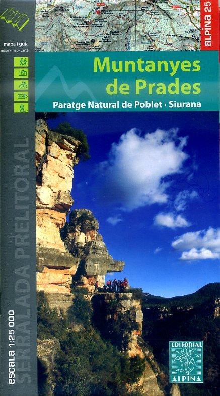 Muntanyes de Prades 1:25.000 9788480905169  Editorial Alpina Wandelkaarten Spaanse Pyreneeë  Wandelkaarten Spaanse Pyreneeën