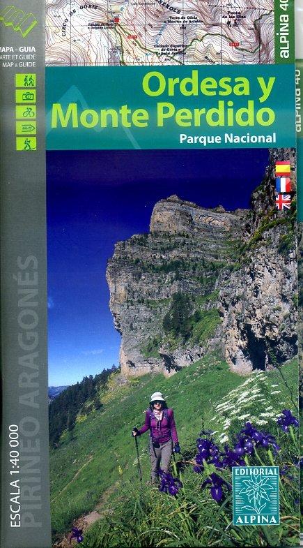 Ordesa e Monte Perdido 1:40.000 9788480905411  Editorial Alpina Wandelkaarten Spaanse Pyreneeë  Wandelkaarten Spaanse Pyreneeën