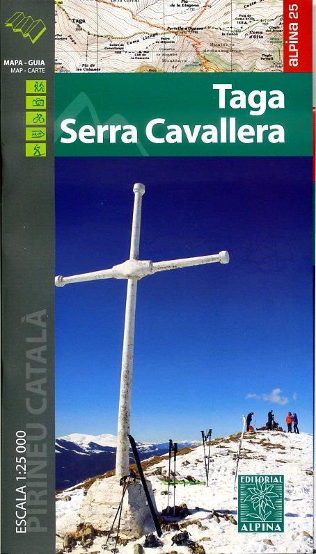 Taga, Serra Cavallera) 1:25.000 9788480905657  Editorial Alpina Wandelkaarten Spaanse Pyreneeë  Wandelkaarten Spaanse Pyreneeën
