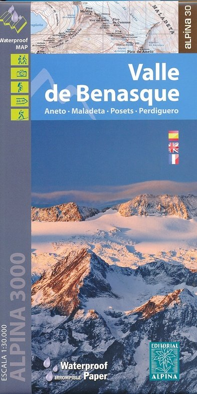 Valle de Benasque, Posets, Perdiguero 1:30.000 9788480905749  Editorial Alpina Wandelkaarten Spaanse Pyreneeë  Wandelkaarten Spaanse Pyreneeën