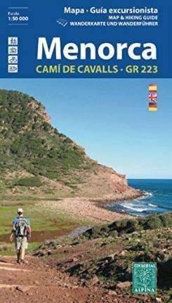Menorca 1:50.000 (met de GR-223) 9788480905985  Editorial Alpina Wandelkaarten Spanje  Meerdaagse wandelroutes, Wandelkaarten Menorca